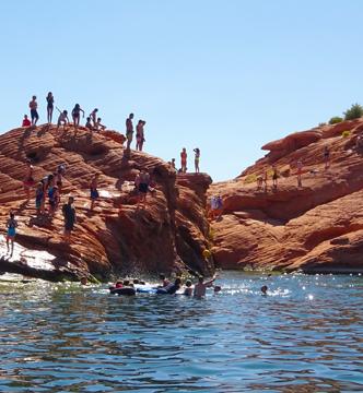 Sand Hollow rock jumping
