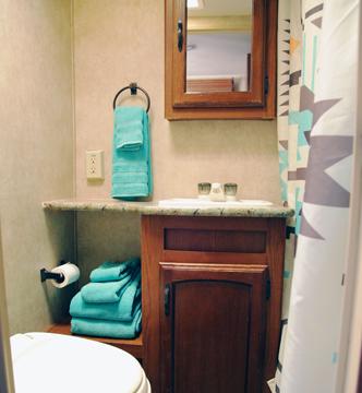 Papa Bear Trailer Bathroom