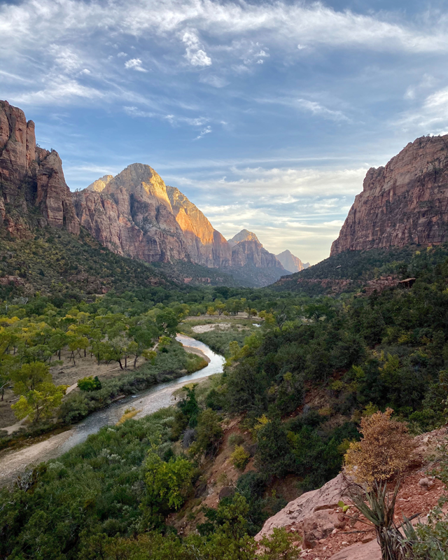 Zion Canyon Aerial