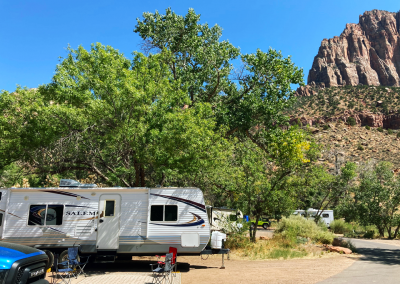 Camping Trailer in Watchman Campground
