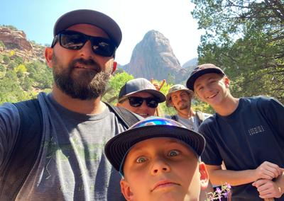 Kolob hiking with family