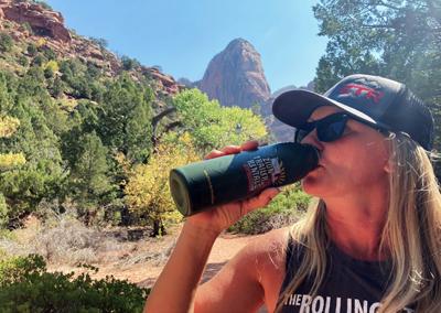 Kolob Canyon hike water bottle