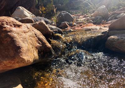 Kolob Canyon hike water fall