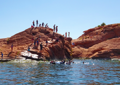 Sand Hollow rock jumping